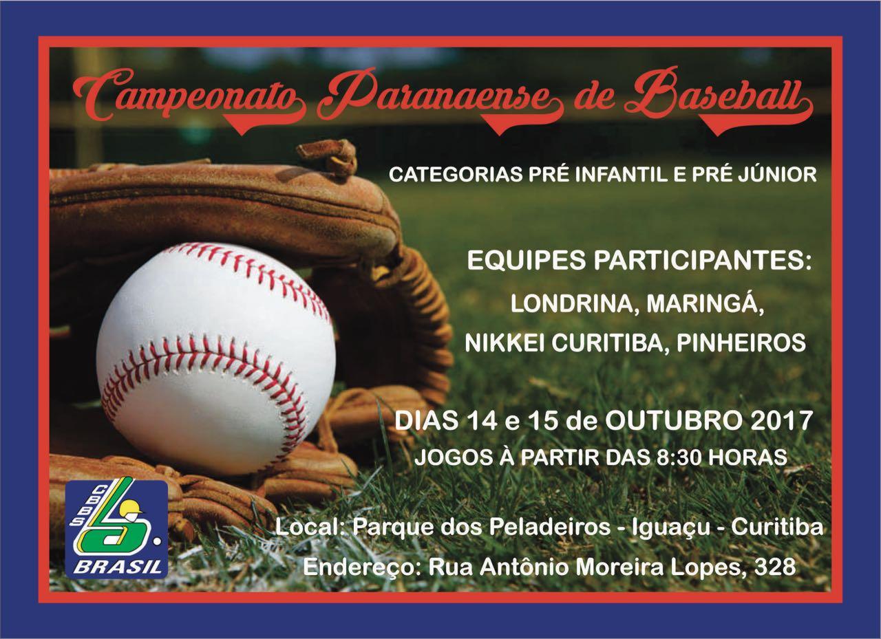 Campeonato Paranaense, Beisebol, Campeonato Paranaense de Beisebol 2017